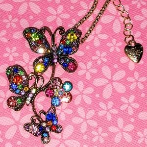 New Crystal Butterfly Necklace